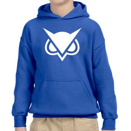 f83ec2dd4bb2c New Way 747 - Youth Hoodie Vanoss Owl Gaming VG Logo Unisex Pullover  Sweatshirt Large Navy