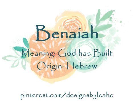 Pin Oleh Julie Muller Di Hebrew Nama Bayi