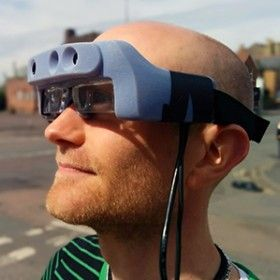 Startup VA-ST thinks its depth-sensing glasses can help people with little sight get around more easily.