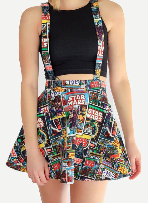 Star Wars Suspender Skater Skirt- of heck yes Arayia!