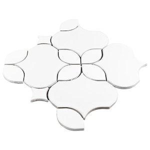 Boutique Ceramic Waterjet Look White Ceramic Waterjet Look 11 In X 11 In Glazed Ceramic Mosaic Wall Tile Lowes Com In 2020 Mosaic Wall Tiles Wall Tiles Mosaic Wall