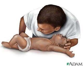 CPR on a Child and a Baby. I know it, but this is one of those pins people should all repin, just in case. And all mothers should review CPR/Heimlich etc... every three months.