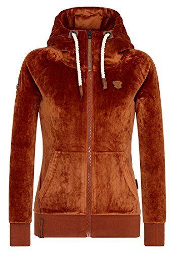 Naketano Female Zipped Jacket Brazzo Mack Copper S. Velour