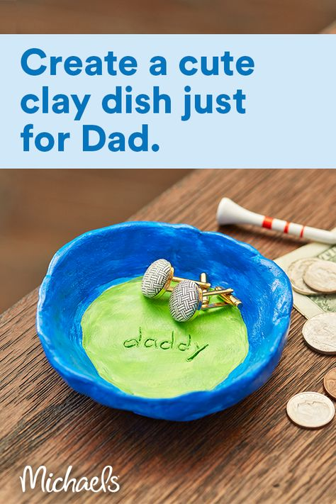 Father's Day Clay Dish