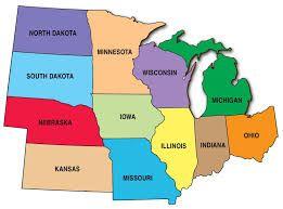 Image result for us map midwest region | Kansas missouri ...