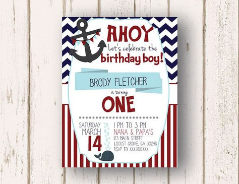 Nautical Birthday Invitation By LillardwithLove On Etsy