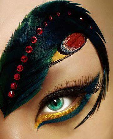 Cool...Feather eyebrow?