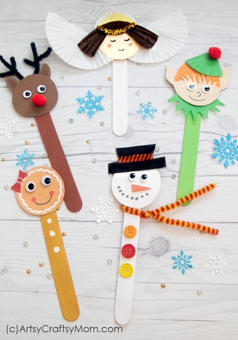 This Popsicle Stick Snowman is one of the easiest crafts you can make this Christmas! Even younger kids can assemble the parts themselves. ornaments popsicle sticks Make a Popsicle Stick Snowman Craft this Christmas Popsicle Stick Christmas Crafts, Christmas Crafts For Kids To Make, Preschool Christmas, Christmas Ornament Crafts, Snowman Crafts, Christmas Activities, Craft Stick Crafts, Preschool Crafts, Kids Christmas