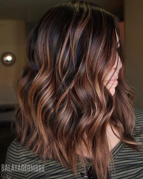 10 Trendy Brown Balayage Hairstyles For Medium Length Hair 2021 Hair Styles Long Hair Styles Dark Brown Hair Color