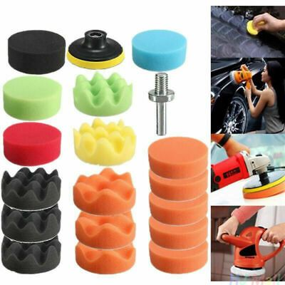 Car-styling Wheel Hub Buffing Shank Polishing Sponge Cone Metal Foam Pad AHS