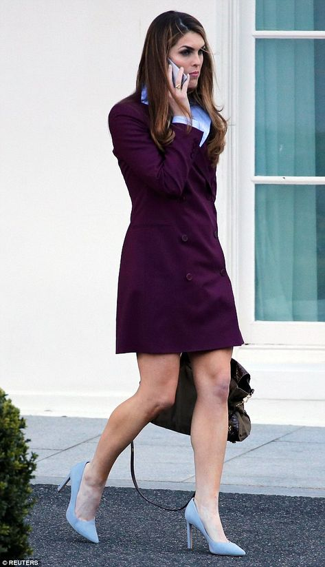 Last day? Hope Hicks, 29, left the White House on Friday carrying a silver iPhone - not her black work phone - suggesting it may have been her last day on the job