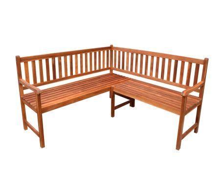 Garden Corner Bench 59 Solid Acacia Wood Aussensitzbank