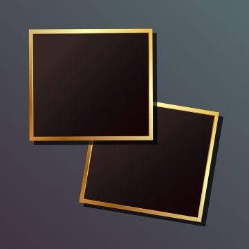 Elegant Gold Vector Frames Background Illustration Print Png And Vector With Transparent Background For Free Download Gold Frame Free Frames Rose Gold Frame