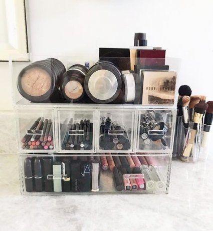 58 Ideas For Bath Room Vanity Decor Makeup Storage Makeup Storage Small Bathroom Makeup Organization Vanity Makeup Organization