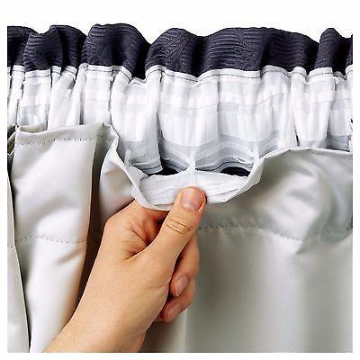 Blackout Lining Thermal Curtain Ready Made 3 Pass Lining Curtain Tape Top Cortinas Opacas Cortinas Aislantes Sábanas Ajustables