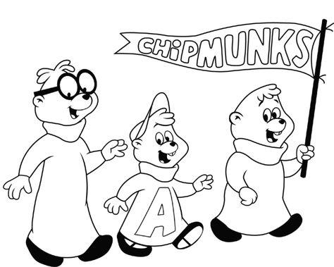 Alvin Und Die Chipmunks Ausmalbilder 10 Ausmalbilder Für