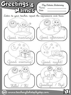 Resultado De Imagen Para Pinterest Saludos Ingles Ninos Ingles