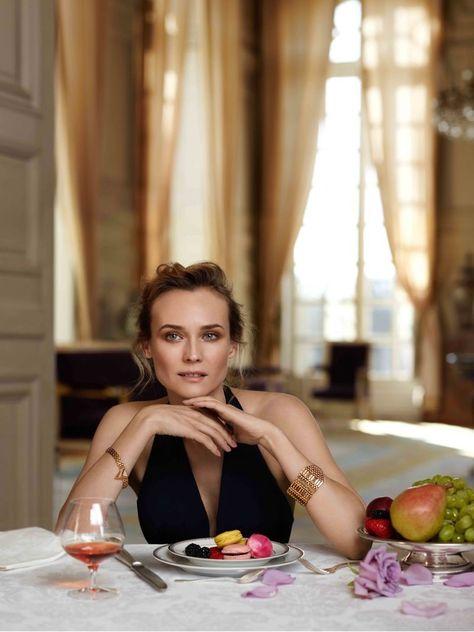 Diane Kruger Stuns in Versailles for Martell Cognac Shoot Diane Kruger has been named the new brand ambassador of  Martell Cognac