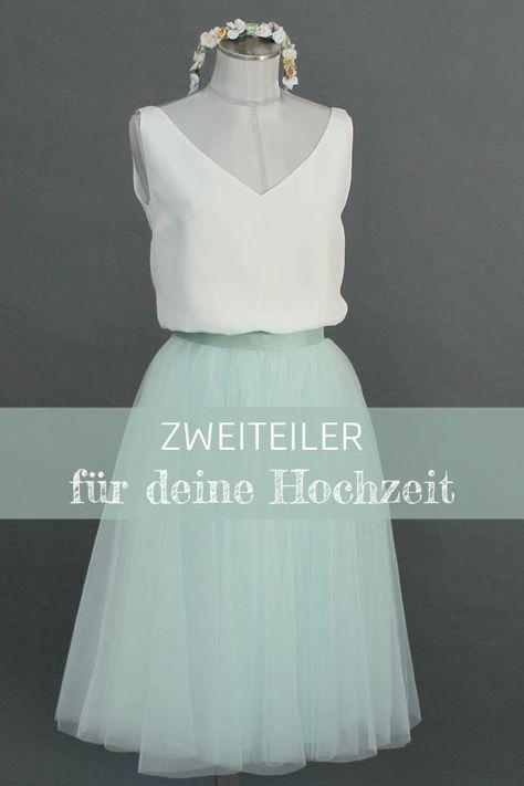 Kuze Brautkleider und schöne Standesamtkleider mit Tüllrock und schlichtem Braut Top