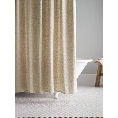 Basketweave Shower Curtain Linen Fieldcrest With Images