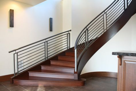 Image result for Contemporary Curved Stair Railings ...