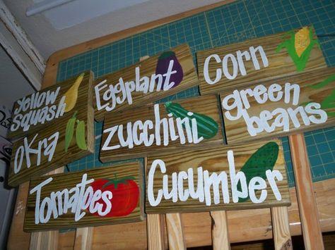 Vegetable Garden Signs Garden Signs Diy Garden Markers Diy Garden Signs