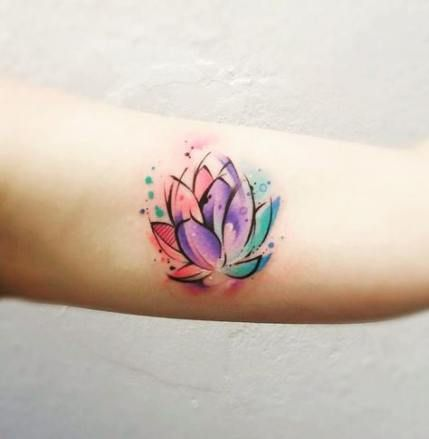 70 New Ideas Tattoo Lotus Watercolor Watercolor Lotus Tattoo Small Watercolor Tattoo Water Lily Tattoos