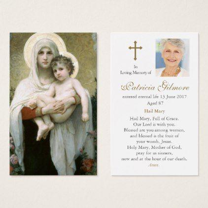 Prayer Cards Madonna Of The Roses Zazzle Com Prayer Cards