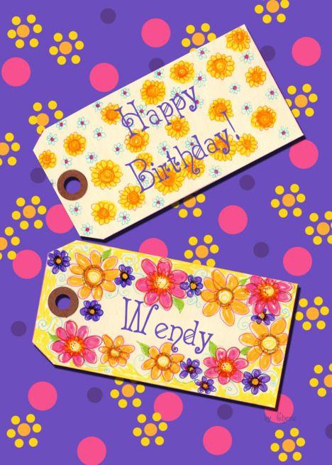 Happy Birthday Wendy Card Happy Birthday Barbara Happy Birthday