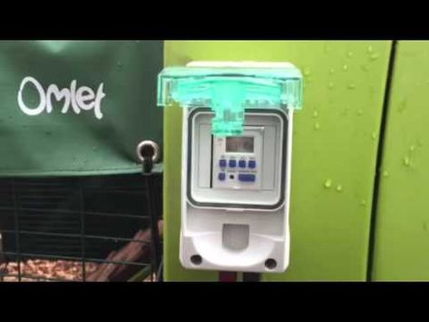 Omlet Eglu Cube Automatic Timed Chicken Coop Door Opener Youtube Chicken Coop Coop Easy Chicken Coop