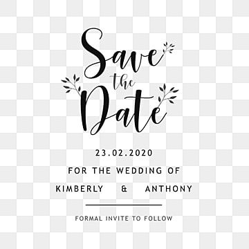 Save The Date Wedding Invitation Typographic Vector Save Icons Wedding Icons Date Icons Png And Vector With Transparent Background For Free Download Save The Date Fonts Save The Date Invitations Typography