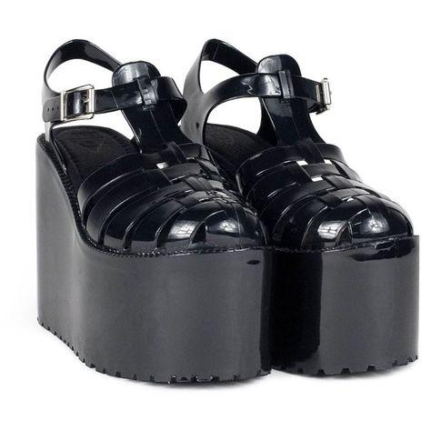 0f50bf97714 List of Pinterest platform shoes sandals black ideas   platform ...