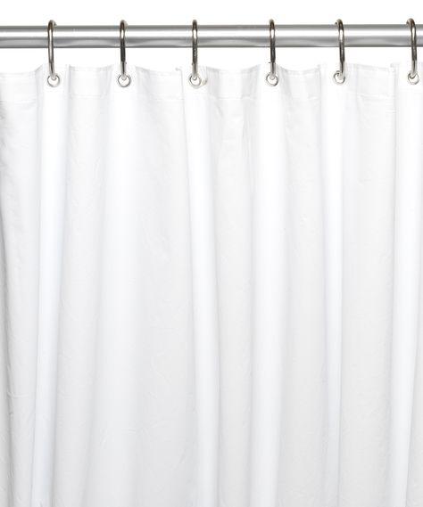 White Extra Long Shower Liner Vinyl Shower Curtains Shower