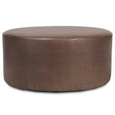 Orren Ellis Lehner Box Cushion Ottoman Slipcover Round Ottoman Ottoman Ottoman Slipcover