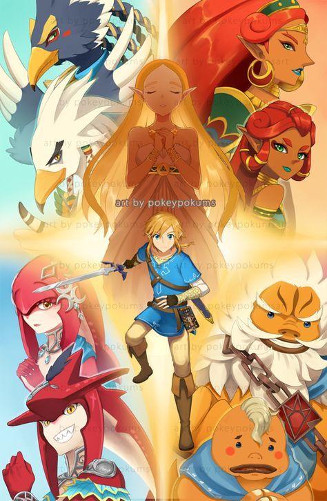 Les Heros Les Prodiges Et Leurs Heritiers Breath Of The Wild Legend Of Zelda Breath Legend Of Zelda