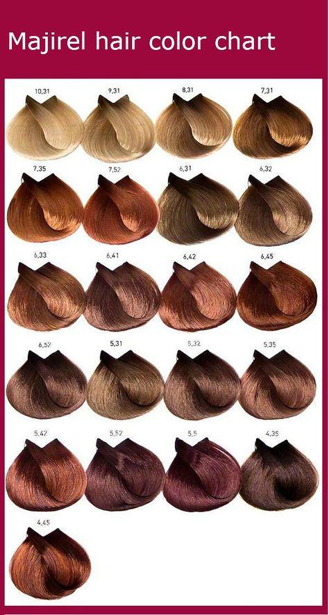 List Of Pinterest Majirel Colour Chart Brown Pictures Pinterest