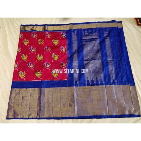 d997a686c1168 Ikkat Pattu Sarees-Magenta and Royal Blue-Sitarini. To order please  WhatsApp us