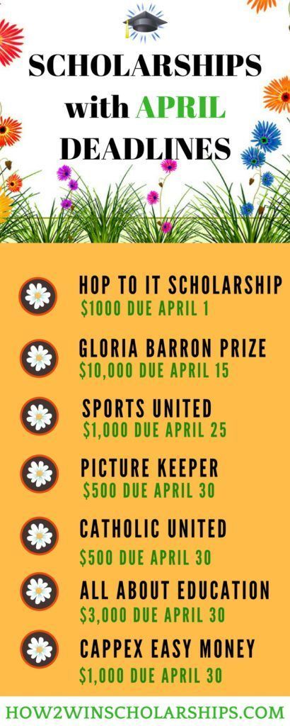 College Scholarships with April Deadlines - APPLY NOW