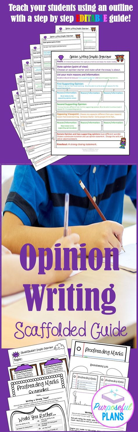 *Step-by-Step Opinion Writing Guide- Growing Resource