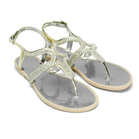 0d961323c0a723 Chemistry® VICKY Women s Roman Gladiator Thong Flat Sandals Ankle Strap Flip  Flops Shoes     Discover this special outdoor gear