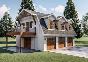 Modern 2 Car Garage With Apartment Lone Tree Carriage House Plans Barn Style House Garage Apartment Floor Plans