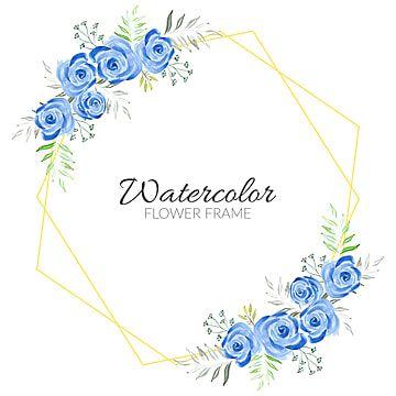 الأزرق الزهور ريفي إطار المائية رسمت باليد أزرق زهري توضيح Png والمتجهات للتحميل مجانا Blue Watercolor Floral Greeting Card Art Flower Frame