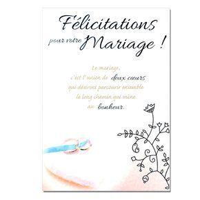 Modèle Lettre De Félicitations Pour Mariage Dans Cartes Mots