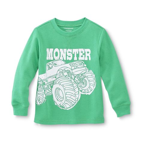 96ecad720 WonderKids Infant & Toddler Boy's Long-Sleeve Thermal T-Shirt - Monster  Truck - Baby - Baby & Toddler Clothing - Tops