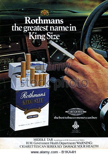 Cigarettes Peter Stuyvesant buying behavior