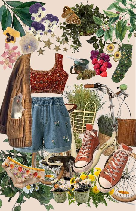 Cute Casual Outfits, Retro Outfits, Vintage Outfits, Summer Outfits, Aesthetic Fashion, Aesthetic Clothes, Hippie Style, My Style, Estilo Hippy