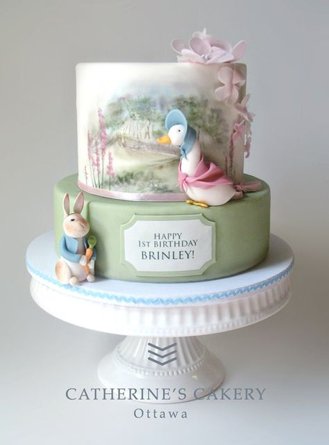 Beatrix Potter cake for a Peter Rabbit party