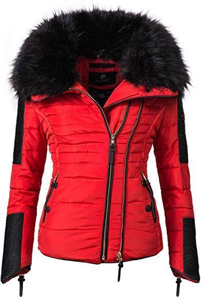 Navahoo Damen Jacke Winterjacke Steppjacke Yuki2 Red Gr. S