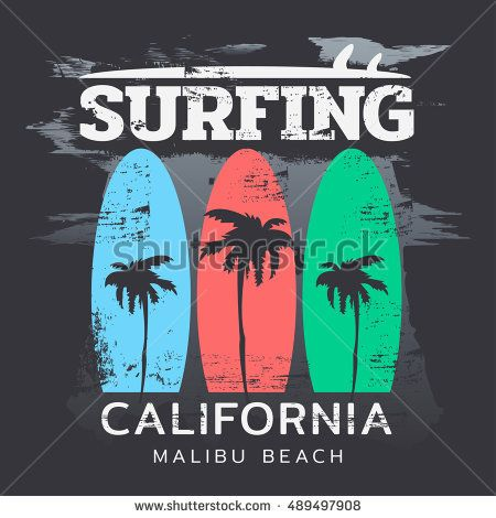 Image by Shutterstock Malibu Beach California Surf Tee Men/'s