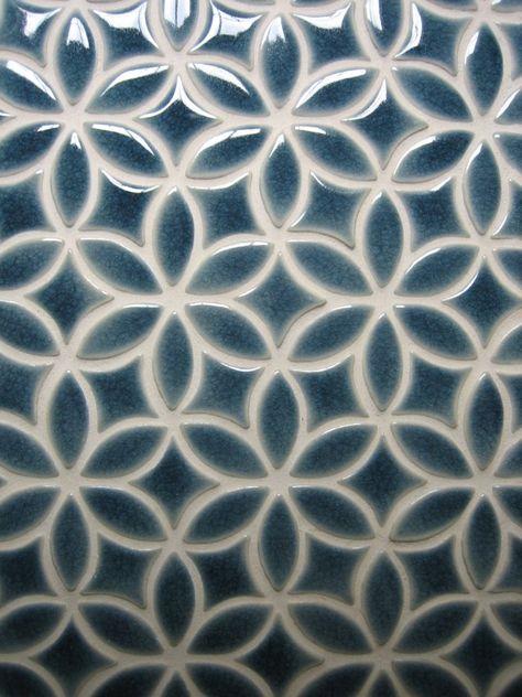 Bloom pattern shown in Deep Blue Crackle